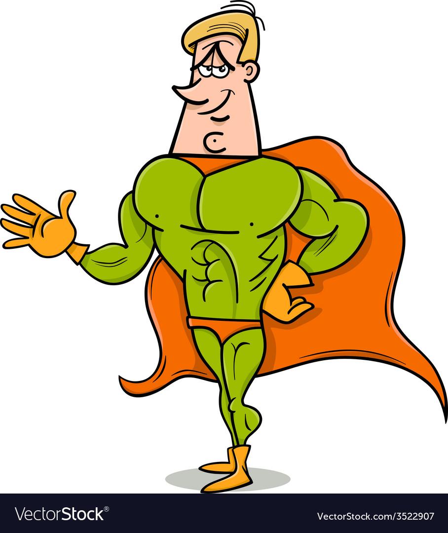Superhero cartoon vector
