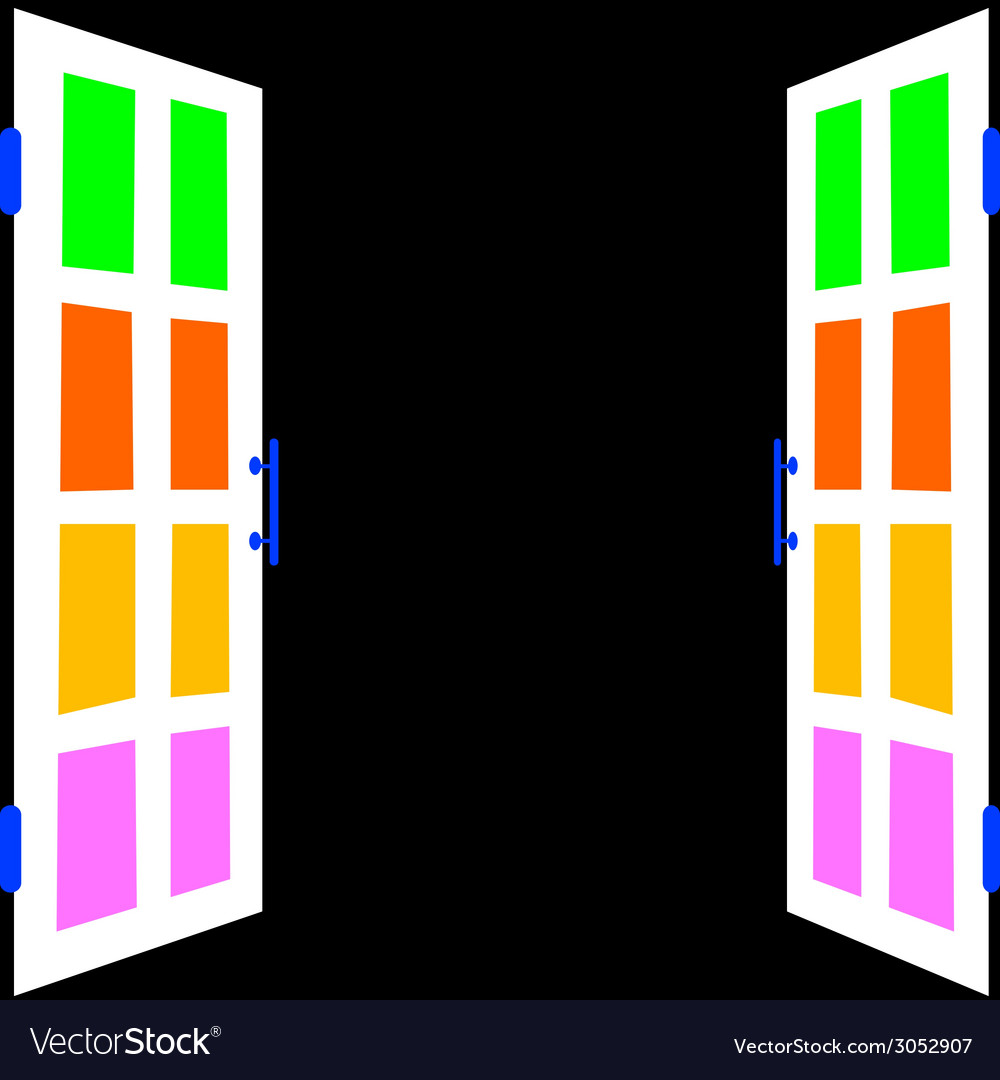 White window with black background vector | Price: 1 Credit (USD $1)