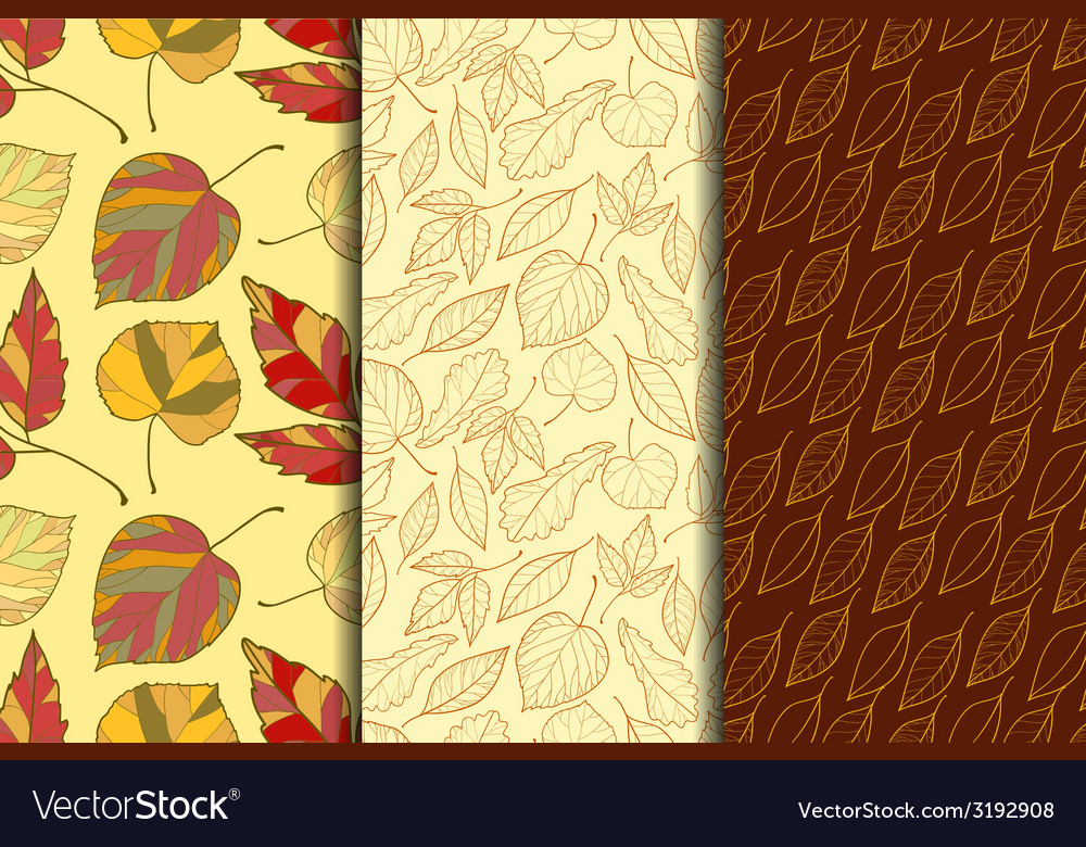 Autumn seamless pattern vector | Price: 1 Credit (USD $1)