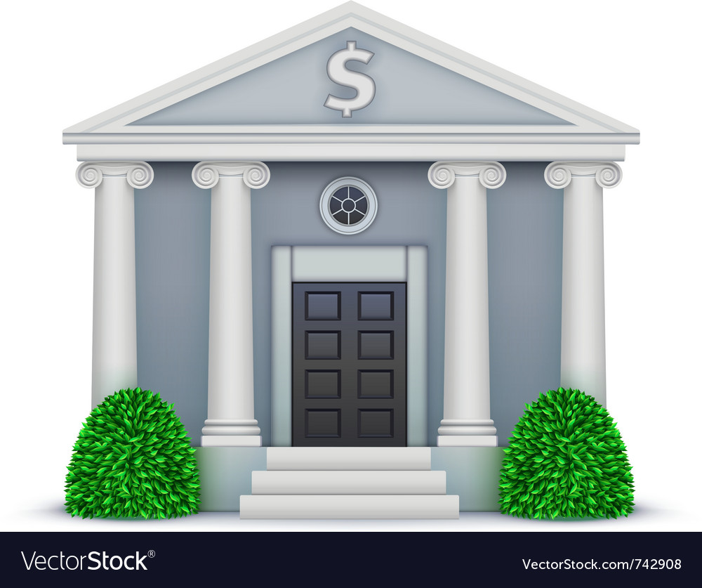 Bank icon vector | Price: 3 Credit (USD $3)