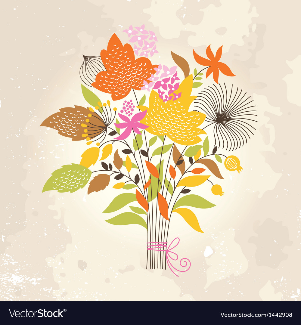Floral autumnal bouquet vector | Price: 1 Credit (USD $1)