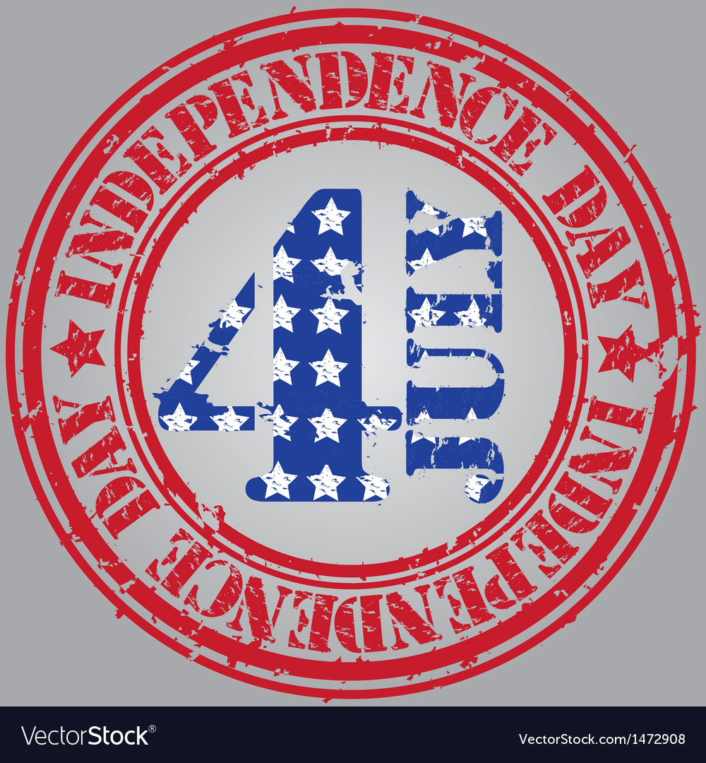 Happy independence day the 4th july vector | Price: 1 Credit (USD $1)