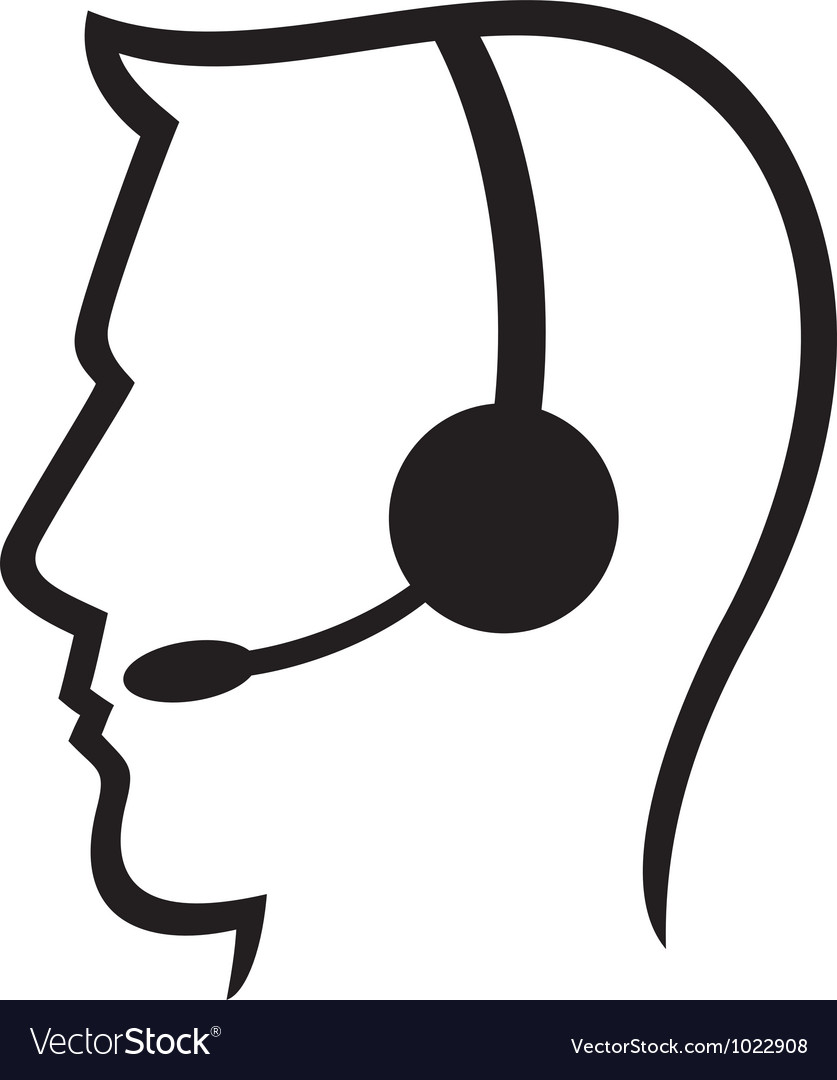 Headset symbol vector | Price: 1 Credit (USD $1)
