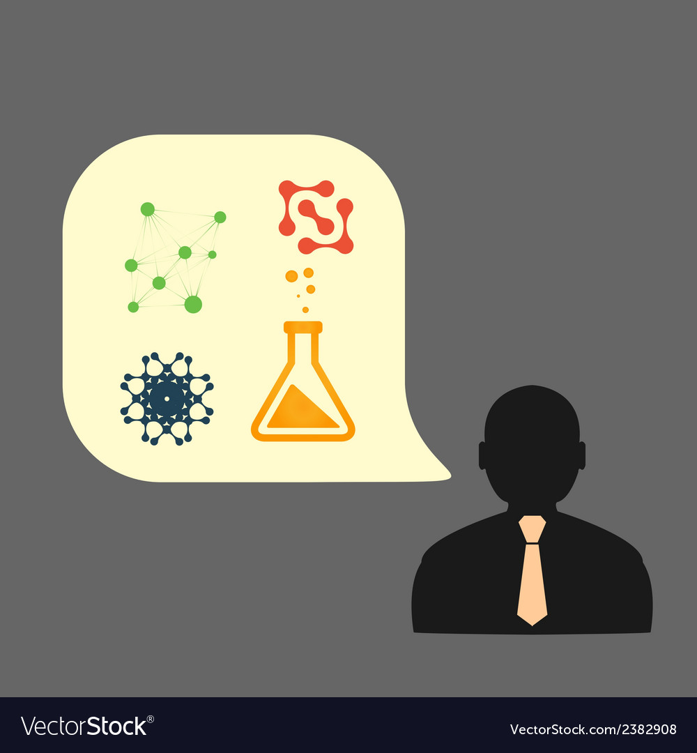Icons man chemical experiments eps vector | Price: 1 Credit (USD $1)