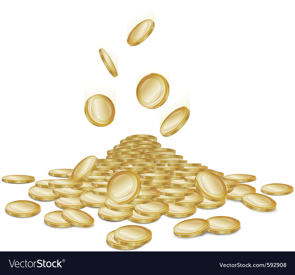 Raining gold coins vector | Price: 1 Credit (USD $1)