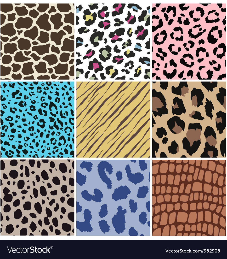Seamless animal skin fabric pattern vector | Price: 1 Credit (USD $1)