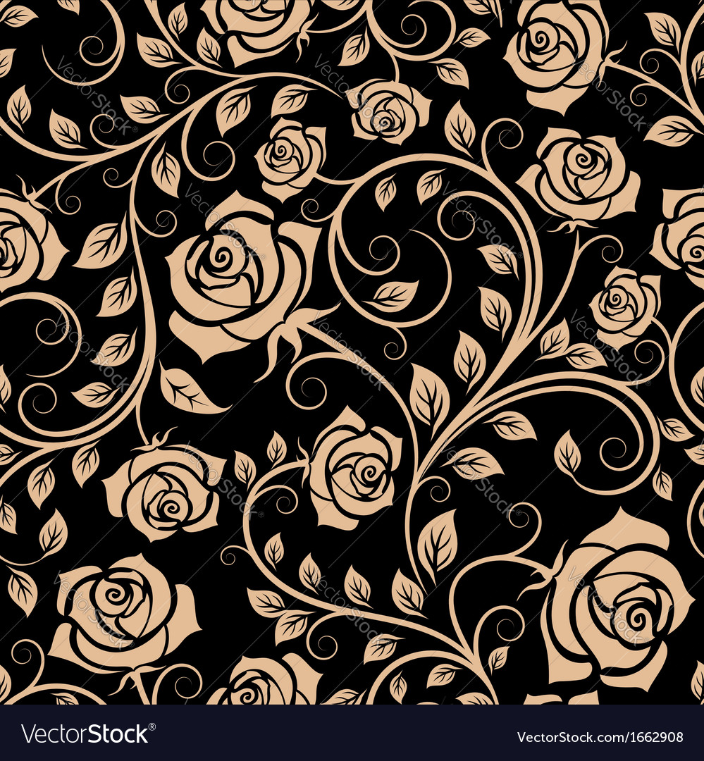 Seamless pattern with rose flowers vector | Price: 1 Credit (USD $1)