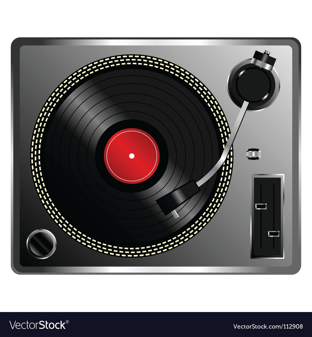 Vinyl record deck vector | Price: 1 Credit (USD $1)
