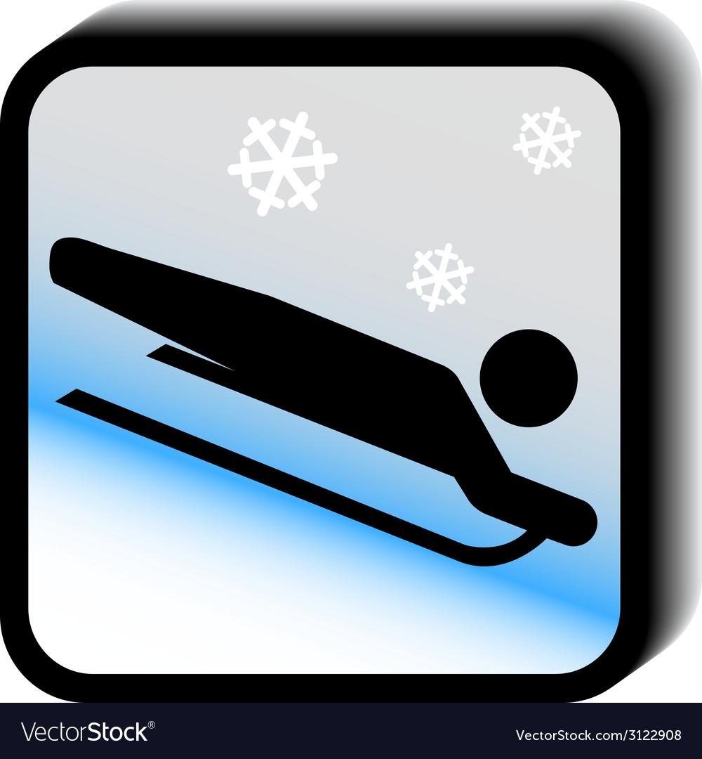 Winter icon -sledding vector | Price: 1 Credit (USD $1)