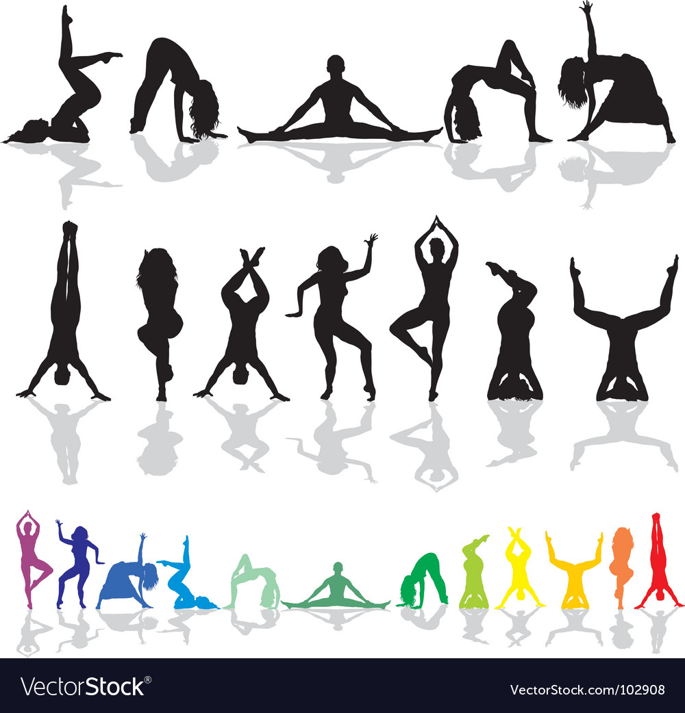 Yoga and fitness woman vector | Price: 1 Credit (USD $1)