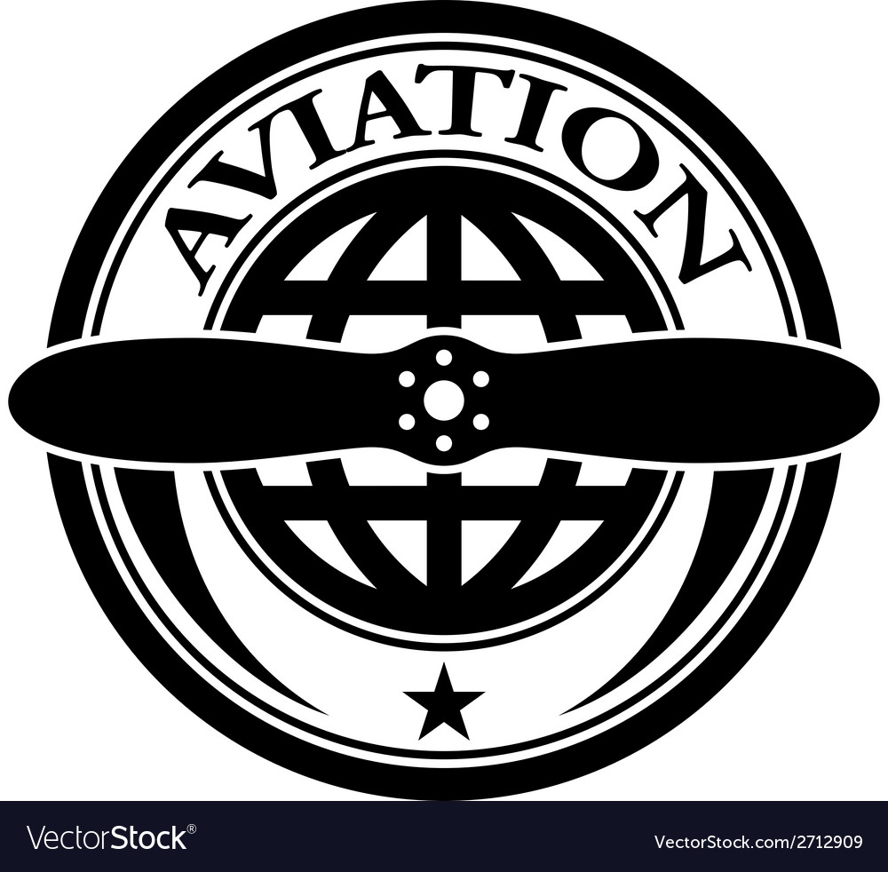 Aviation stamp vector | Price: 1 Credit (USD $1)