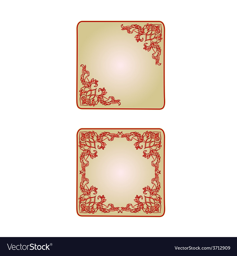 Button banner valentine heart red vintage frame vector | Price: 1 Credit (USD $1)