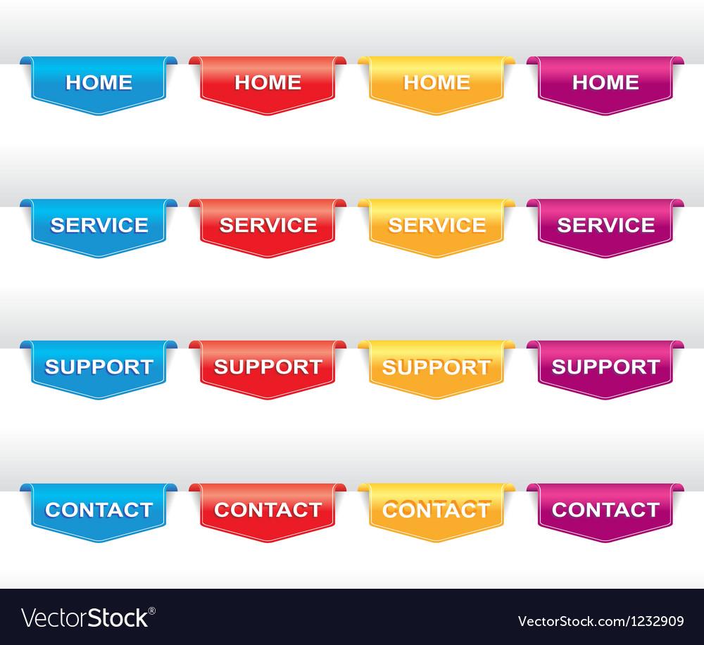 Color set of navigation labels vector | Price: 1 Credit (USD $1)