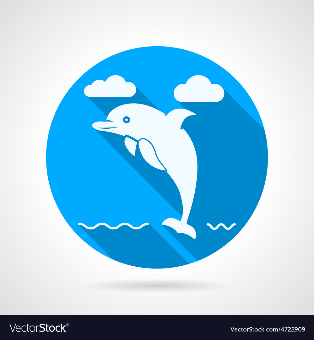 Dolphin flat icon vector   Price: 1 Credit (USD $1)