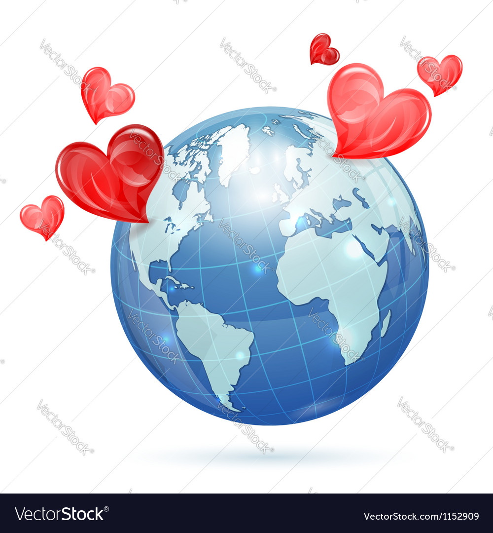 Global valentines day vector | Price: 1 Credit (USD $1)