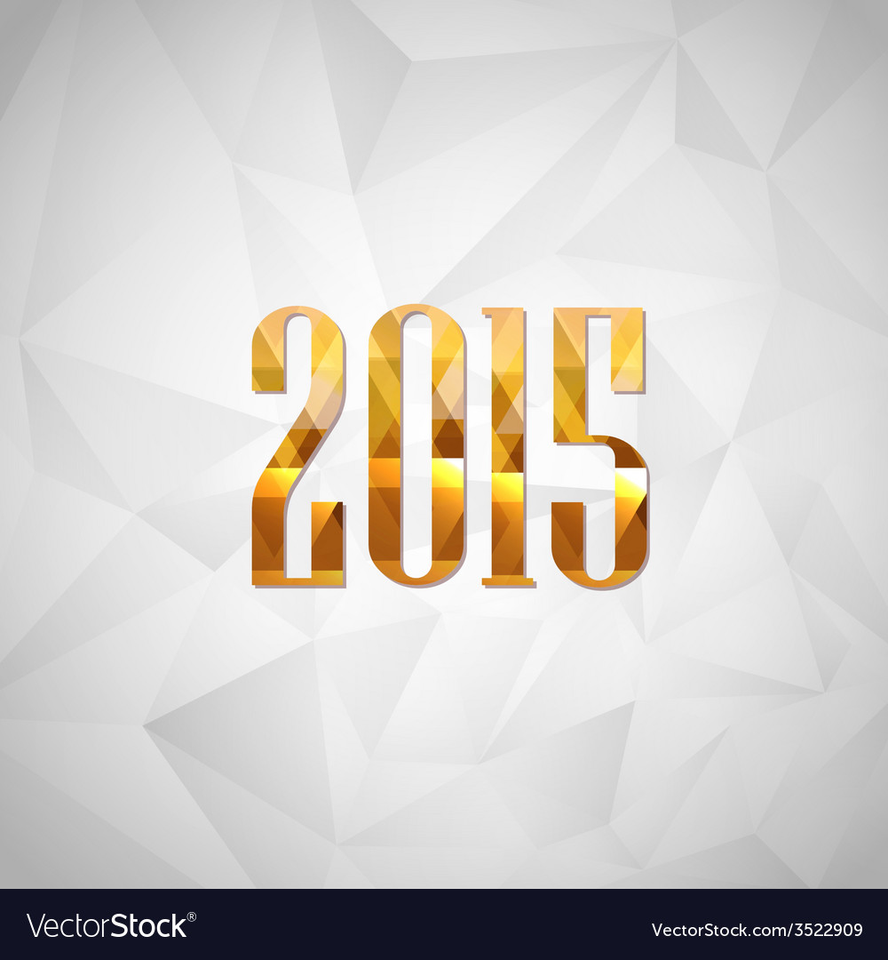Happy new year 2014 holiday background with golden vector | Price: 1 Credit (USD $1)