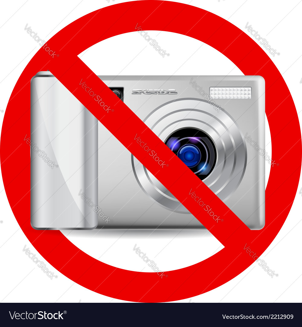 No camera sign vector | Price: 1 Credit (USD $1)