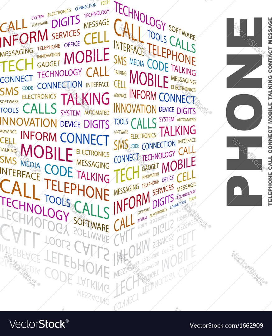 Phone vector | Price: 1 Credit (USD $1)