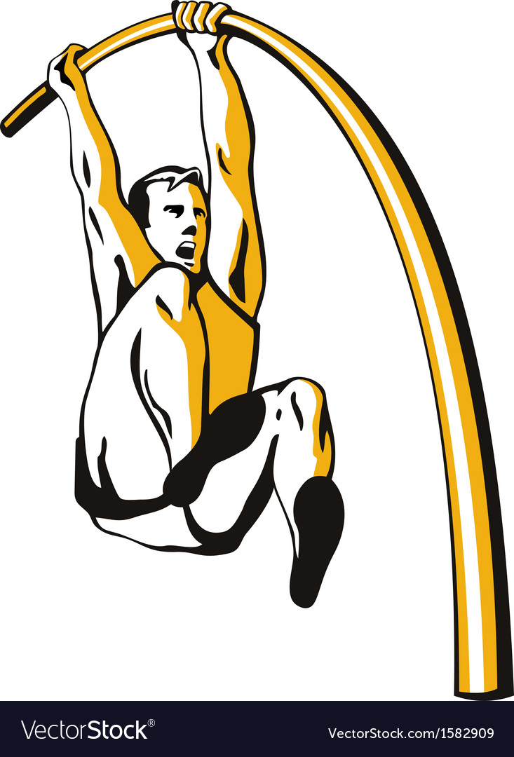 Pole vault vector | Price: 1 Credit (USD $1)