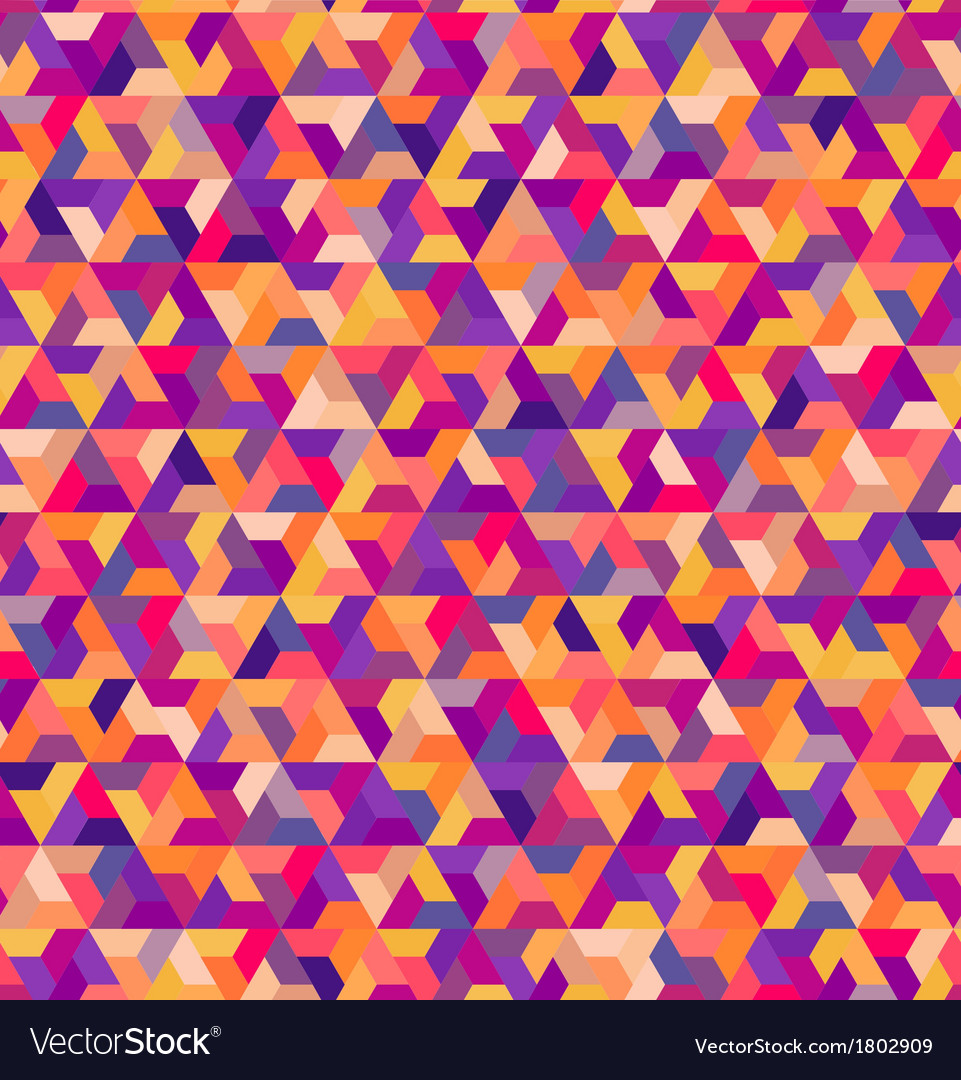 Seamless geometric colorful pattern vector | Price: 1 Credit (USD $1)