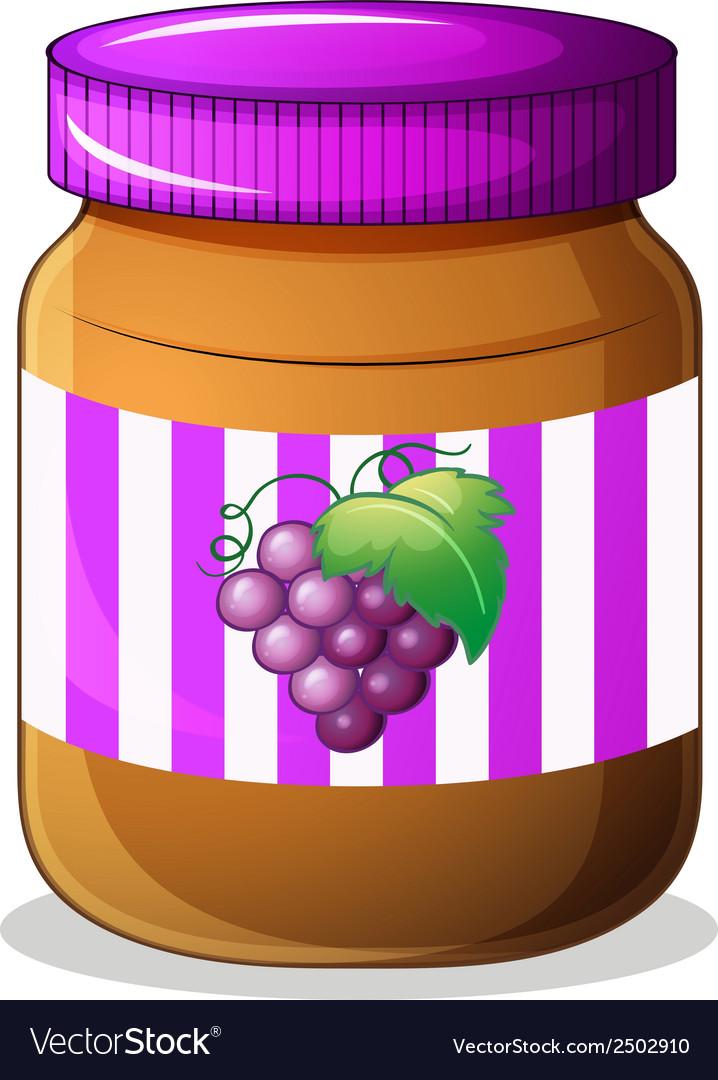 A jar of grape jam vector | Price: 1 Credit (USD $1)