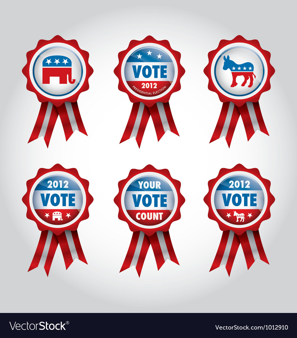 Badges us presidential election 2012 vector | Price: 1 Credit (USD $1)