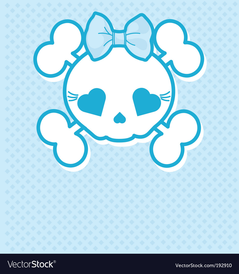 Blue skull vector | Price: 1 Credit (USD $1)