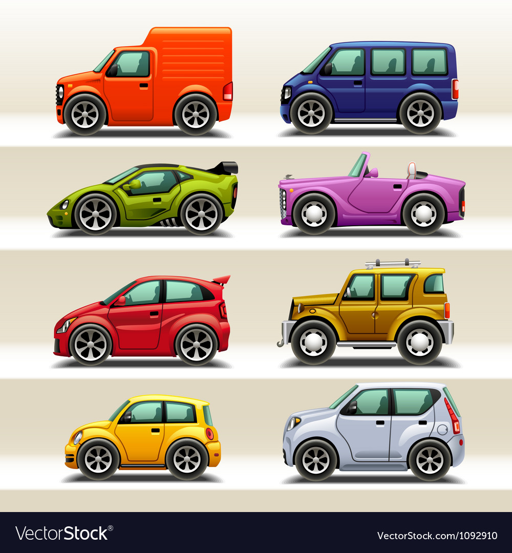 Car icon set-2 vector | Price: 3 Credit (USD $3)