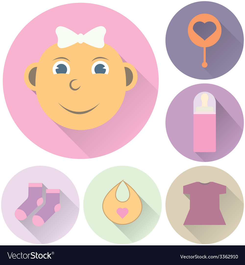 Childrens icons on a white background vector | Price: 1 Credit (USD $1)