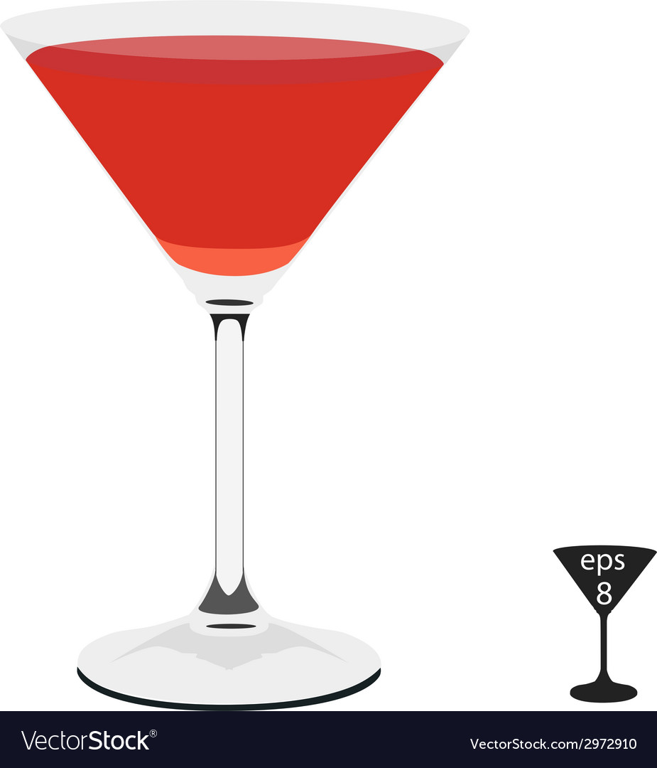 Coctail glass vector | Price: 1 Credit (USD $1)
