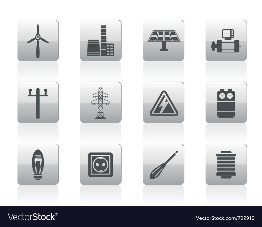Electricity and power icons vector | Price: 1 Credit (USD $1)