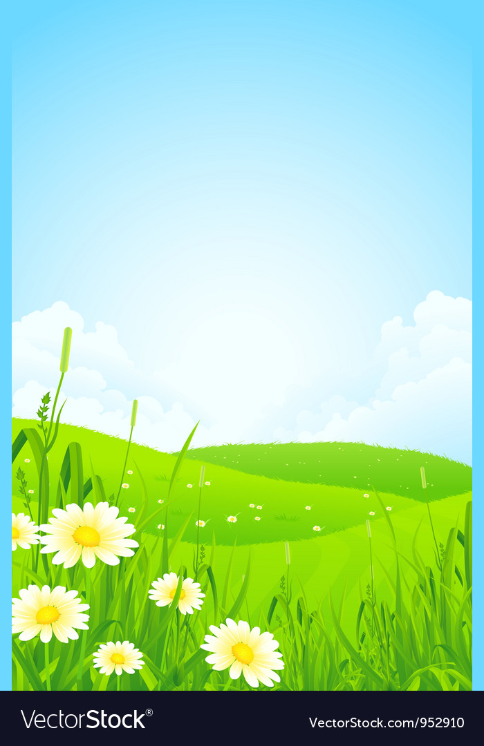 Green nature landscape vector | Price: 3 Credit (USD $3)
