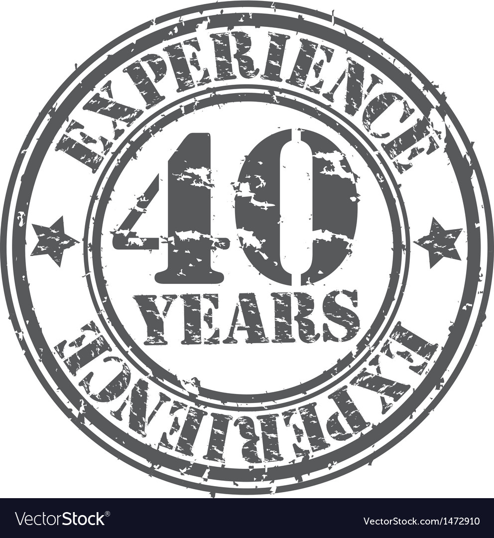 Grunge 40 years of experience rubber stamp vector | Price: 1 Credit (USD $1)