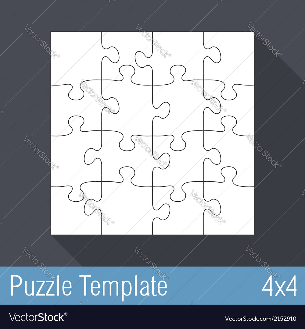 Jigsaw puzzle template vector | Price: 1 Credit (USD $1)