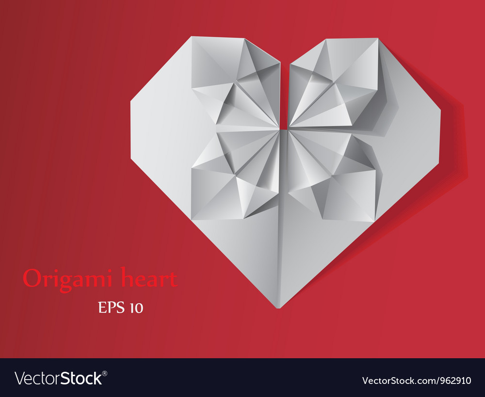 Origami heart vector | Price: 1 Credit (USD $1)