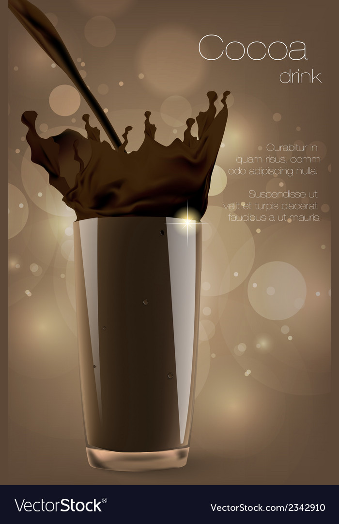 Pouring cocoa chocolate and milk vector | Price: 1 Credit (USD $1)