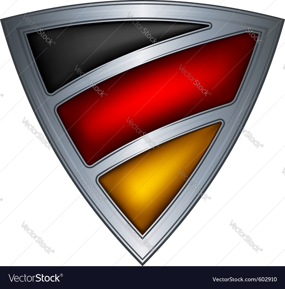 Steel shield with flag germany vector | Price: 1 Credit (USD $1)
