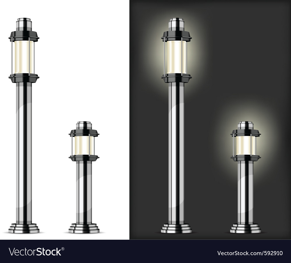 Street lights vector | Price: 1 Credit (USD $1)