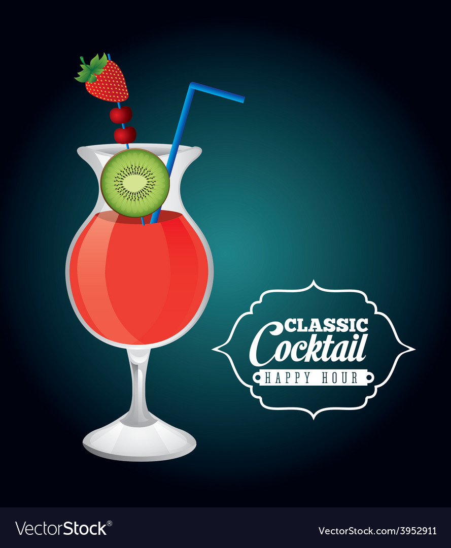 Classic cocktail vector   Price: 1 Credit (USD $1)