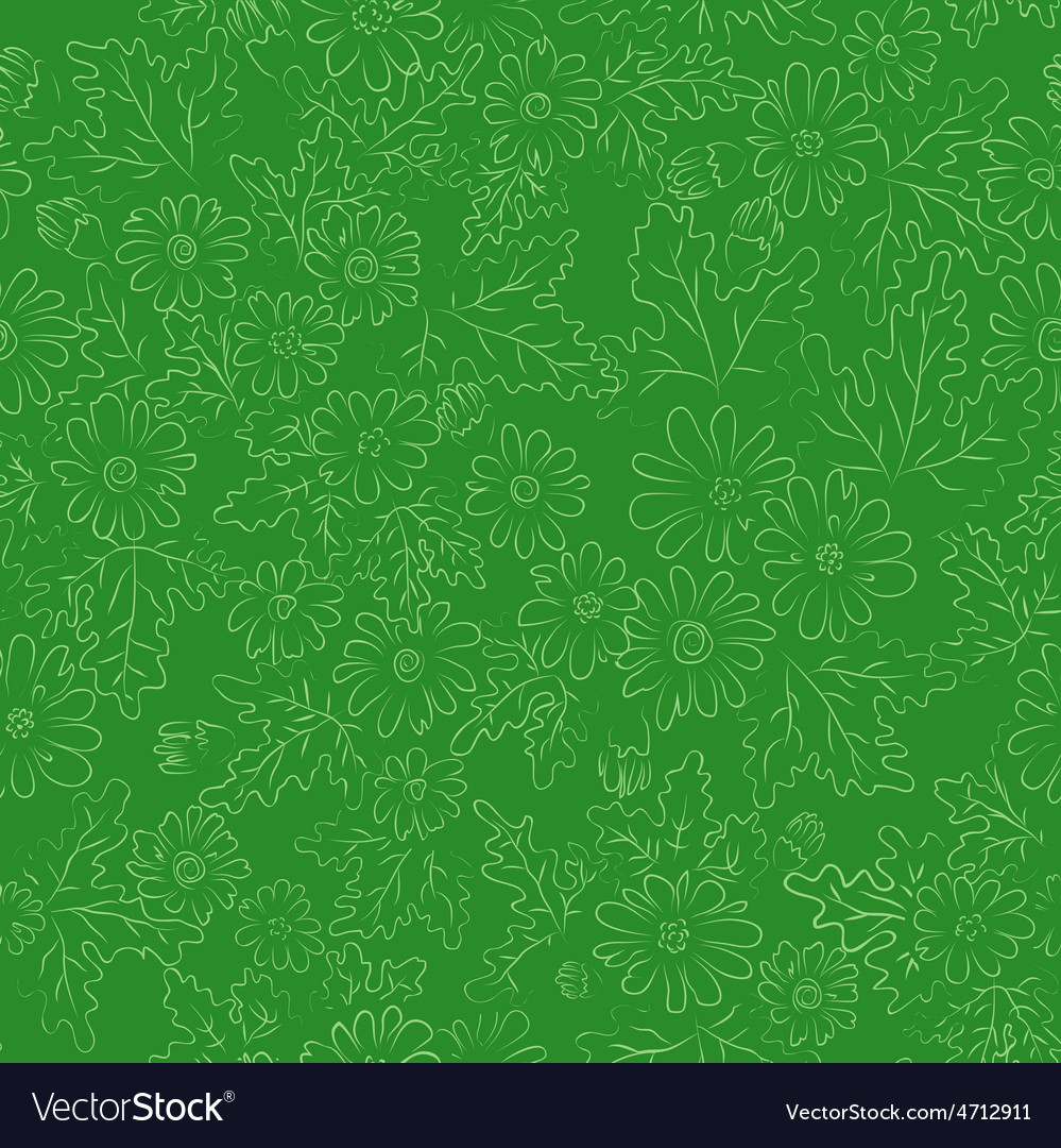 Daisy background green vector | Price: 1 Credit (USD $1)
