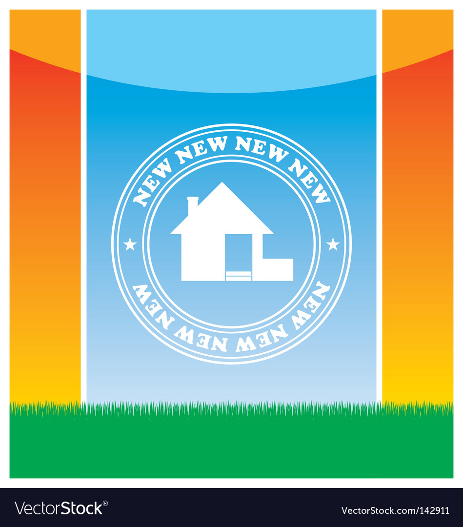 Emblem of the new house vector | Price: 1 Credit (USD $1)