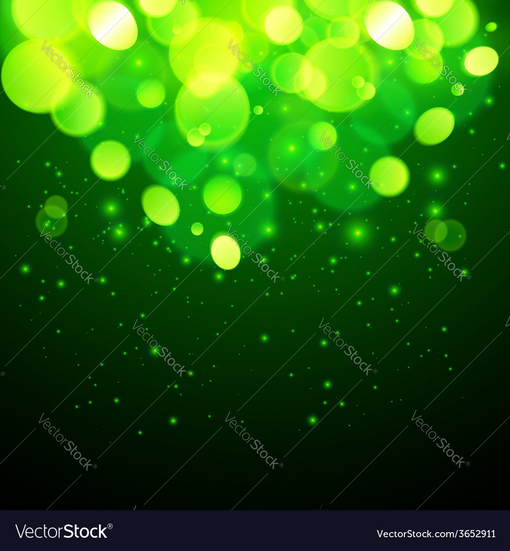 Green magic bokeh effect abstract background vector | Price: 1 Credit (USD $1)
