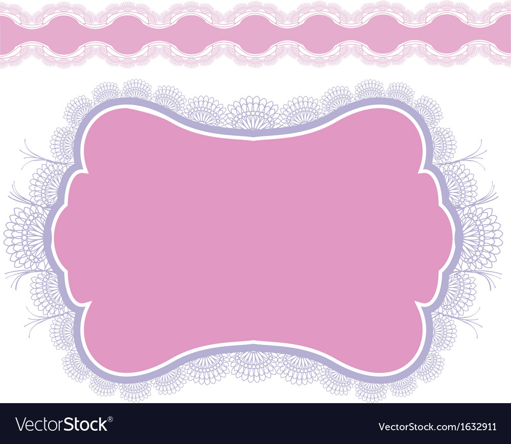 Lace frame design for card vintage doily isolated vector | Price: 1 Credit (USD $1)