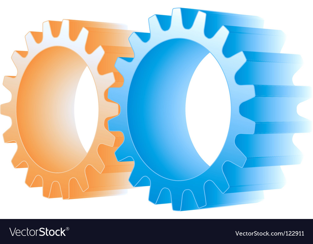 Logo gears vector | Price: 1 Credit (USD $1)