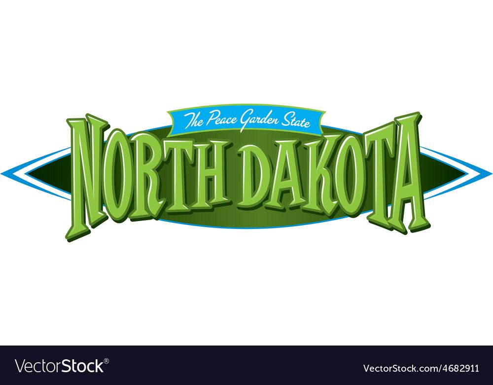 North dakota the peace garden state vector | Price: 1 Credit (USD $1)