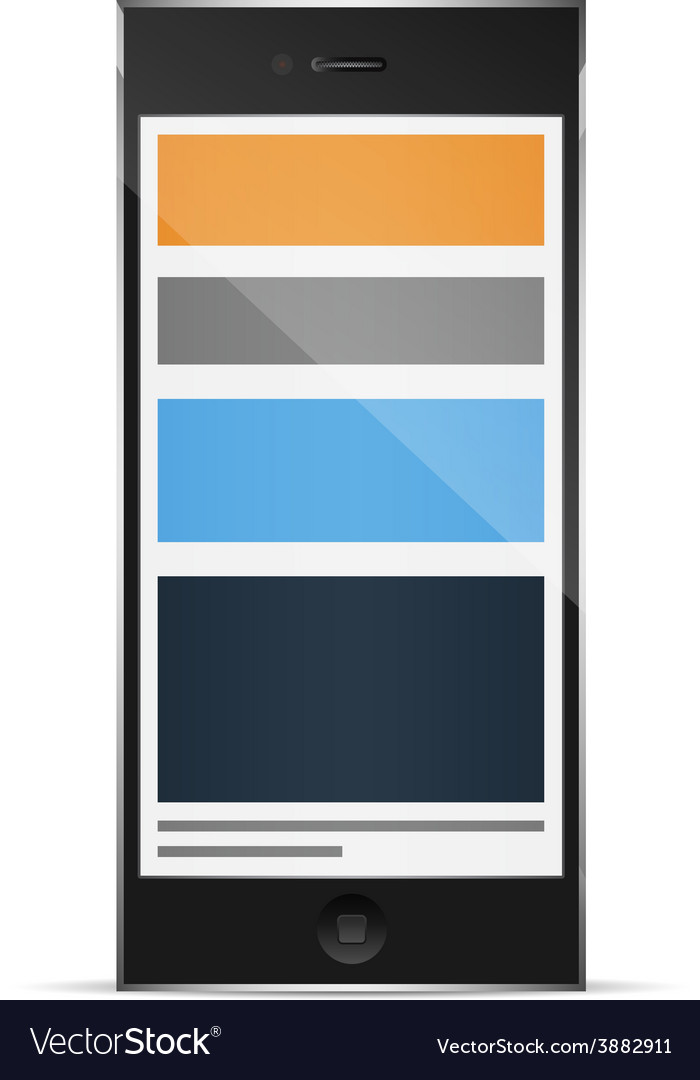 Responsive grid layout on phone vector | Price: 1 Credit (USD $1)