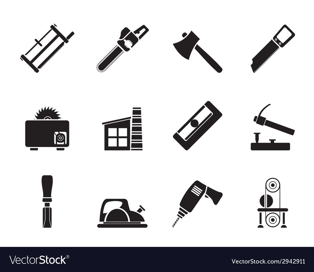 Silhouette woodworking industry vector | Price: 1 Credit (USD $1)