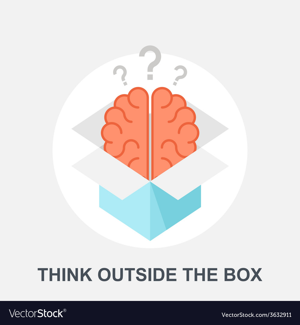 Think outside the box vector | Price: 1 Credit (USD $1)