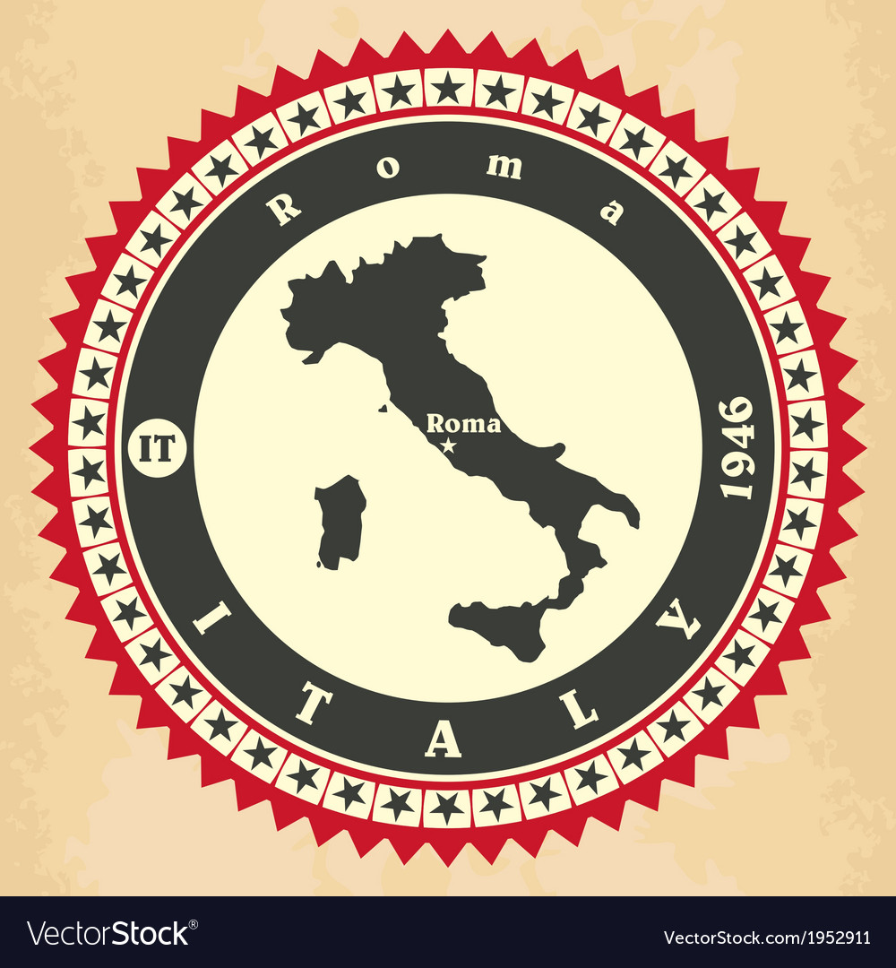 Vintage label-sticker cards of italy vector | Price: 1 Credit (USD $1)
