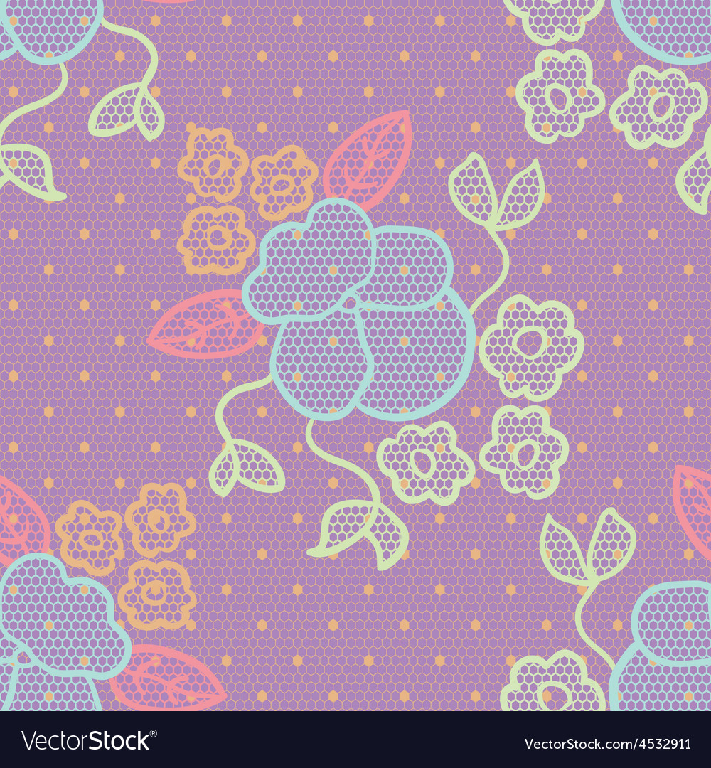 Violet lace fabric seamless pattern vector | Price: 1 Credit (USD $1)